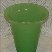 "REDUCED Fenton Jade Green 6 1/4"" Vase   *1920's-30's*"