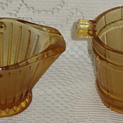REDUCED Set/2 Amber Glass Novelty Ashtrays ***Make an Offer Sale***