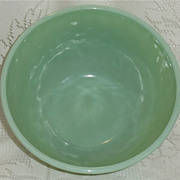 "REDUCED Fire King Jade-ite Swirl 9"" Mixing bowl  ***Make an Offer Sale***"