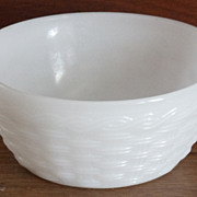 Fire King White Basketweave Bowl