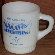 Fire King Naco Advertising Sample Mug