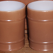 (A) Set/2 Fire King Brown Ranger Mugs *Unused*
