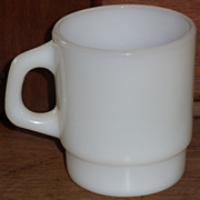 (B) White Fire King Stacking Mug(s)