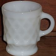 (B) White Fire King Kimberly Mug(s)