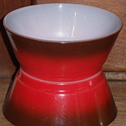 SOLD (B) Set/2 Fire King Red/Brown Slant Side Bowls *Unused