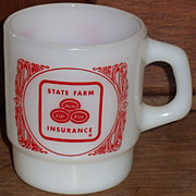 (B) Fire King State Farm Advertising Mug