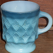 (B) Fire King Blue Kimberly Mug(s)