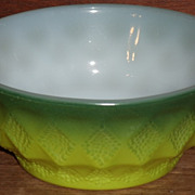 (B) Fire King Green Kimberly Bowl(s)