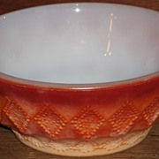 (B) Fire King Red Orange Kimberly Bowl(s)