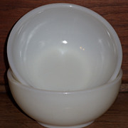 (B) Set/2 Fire King Ivory Chili Bowls  ** As Is**