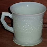 Fenton Green Custard Orange Tree Shaving Mug ***Hard to Find Color***