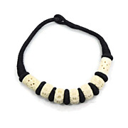 Carved Bone Vintage Necklace - Big & Chunky - Boho Ethnic Tribal - InVintageHeaven