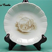 Depression Glass * Cremax * Castle Decal * Saucer