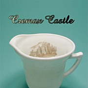 Depression Glass * Cremax * Castle Decal * Creamer