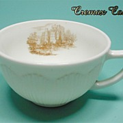 Depression Glass * Cremax * Castle Decal * Cup