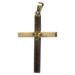 Lovely 12K Gold Filled Cross with Floral Center � Hallmarked Dason