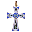 Colorful Brass & Cloisonne Enamel & Engraved Pattee Cross � Reversible