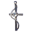 Lovely Sterling & Cubic Zirconia Cross Pendant