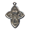 Uniquely Shaped Cruciform 4-Way Devotional Medal � Hallmarked Sterling
