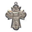 Inspiring 6-Way Cruciform Devotional Medal with Holy Spirit � Hallmarked Sterling