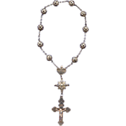 Single-Decade German Souvenir Rosary � Silver Filigree