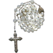 Superb Victorian Silver & Mother of Pearl Rosary � French Crab Hallmarks