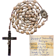 Unique 1950s Jobs Tears Rosary Made & Blessed by Trappist Monks
