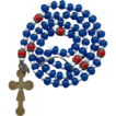 Colorful 19C 6-Decade Brigittine Rosary with Rare 2-Sided Brass Crucifix
