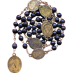 Antique German Servite Rosary of the Seven Sorrows of Mary � Brass Medals