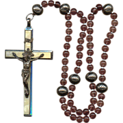 Wonderful 6-Decade German Rosary � Large Roma Crucifix � 83 Grams