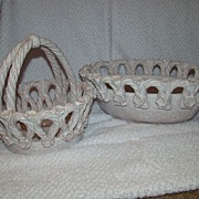 SALE Jay Willfred Made In Italy Double Basket Ceramic Set