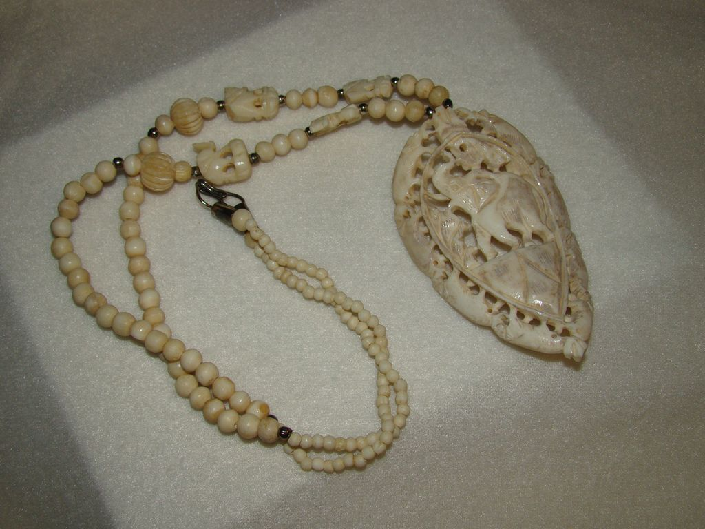 elephant ivory necklace