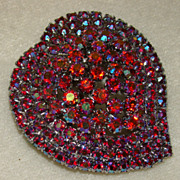 SALE Hearts of Fuchsia Borealis Rhinestones - Absolutely Stunning