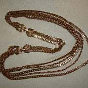 SALE Extra Long Five Strand Necklace or Necklace and Bracelet Set - Really Neat