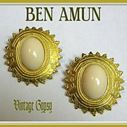 Isaac Manevitz's Ben Amun Signed Magnificent Earrings