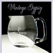 Remy Martin Cognac Little Crystal Collectible Water Pitcher