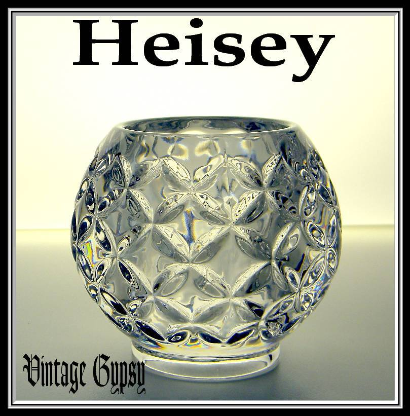 "EAPG Heisey ""Pillows"" Pristine Heavy Pressed Glass Rose Bowl"