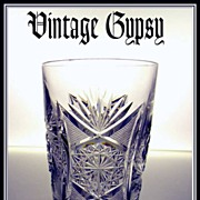 American Brilliant Intricate Hand Cut Old Fashion Glass
