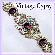 Huge Rhinestone Vintage Bracelet Will Knock Your Socks Off!