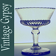 EAPG Lace Band Jelly Compote, Imperial Glass 1904