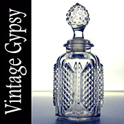 EAPG Glass Diamond Point Panel Cologne 1860-1875
