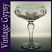 Vintage Cut Crystal Compote