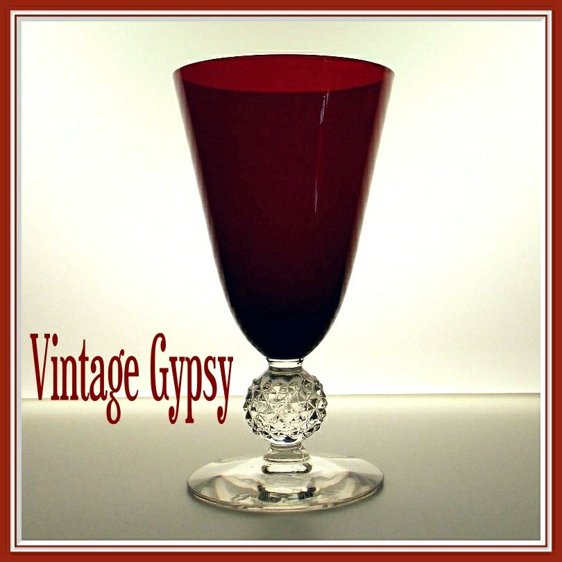 Golf Ball Ruby Footed Tumbler, Morgantown, 1928 - 1971,