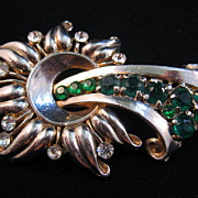 SALE Stunning Retro Modern Sunflower Scroll Pin
