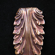 Vintage Brass Laurel-Leaf Pin