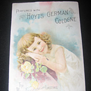 Vintage Original 1891 German Perfume Trade Card-Hoyt's German Cologne