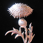 REDUCED Beautiful Lang Sterling Thistle Pin -Brooch -Pendant