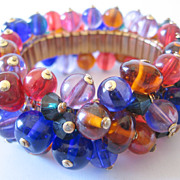 REDUCED Huge Multi Glass Ball Cha Cha Bracelet