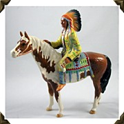 Beswick Mounted Indian on Pinto Pony/Horse Figurine Book Piece