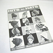 Hits In Hats Knit & Crochet Fleisher Bear Brand Botany Revised Vol. 92